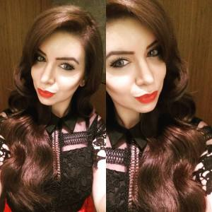 Sarah at the Huda Beauty Masterclass